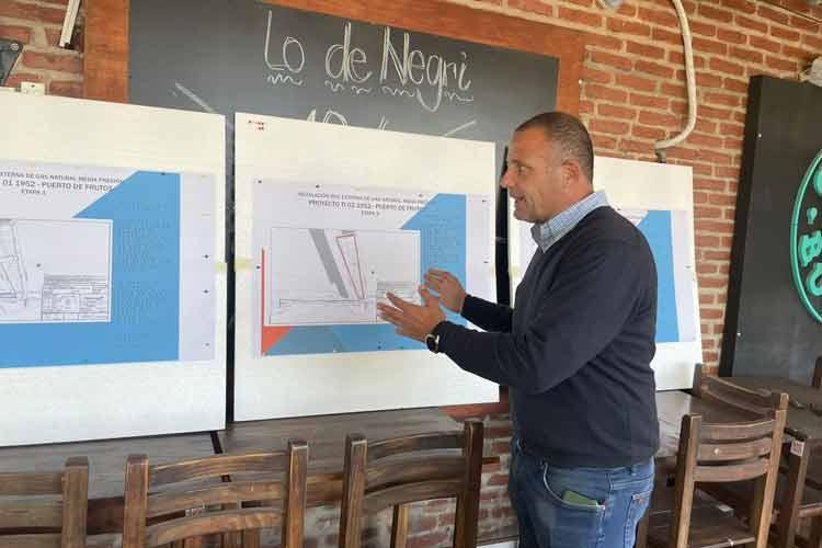 Tigre presentó el proyecto de instalación de red de gas natural que avanza en el Puerto de Frutos