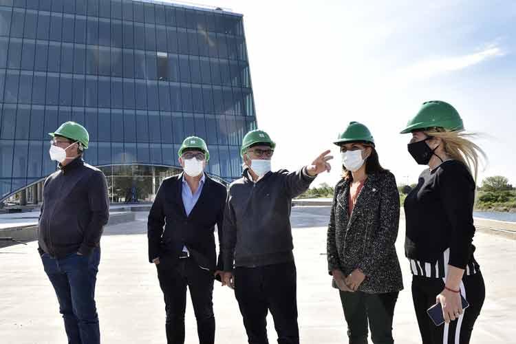 Julio Zamora visitó Officia, el nuevo emprendimiento de oficinas sustentables en Nordelta