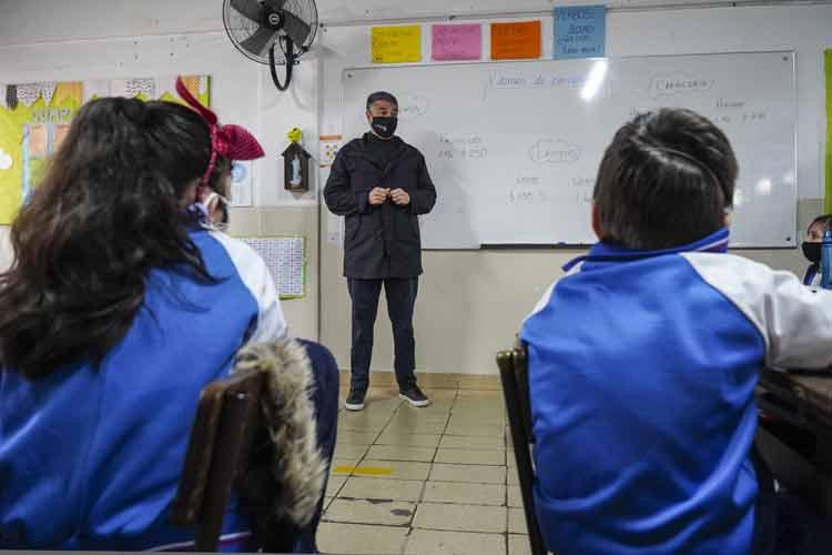 Jorge Macri, visitó esta mañana el Colegio Stella Maris en Munro