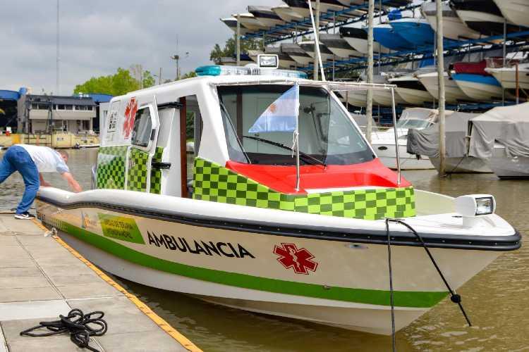 San Fernando sumó una nueva lancha ambulancia al sistema de salud municipal de Islas