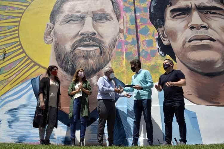El Municipio de Tigre presentó el Mural del Deporte en Don Torcuato
