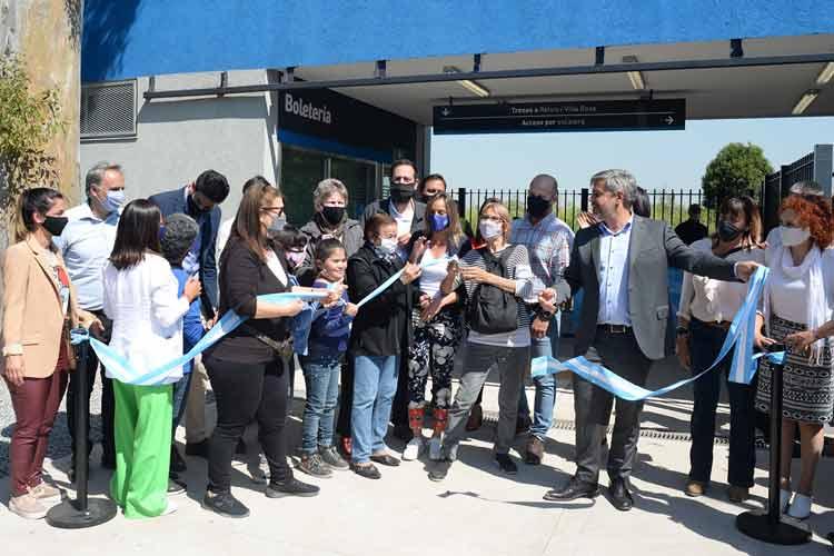 Inauguran en Tigre la renovada estación Montes del Belgrano Norte